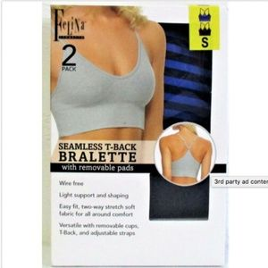 Felina Intimates & Sleepwear - Felina 2-Pack Women's Seamless T-Back Bralette Nav